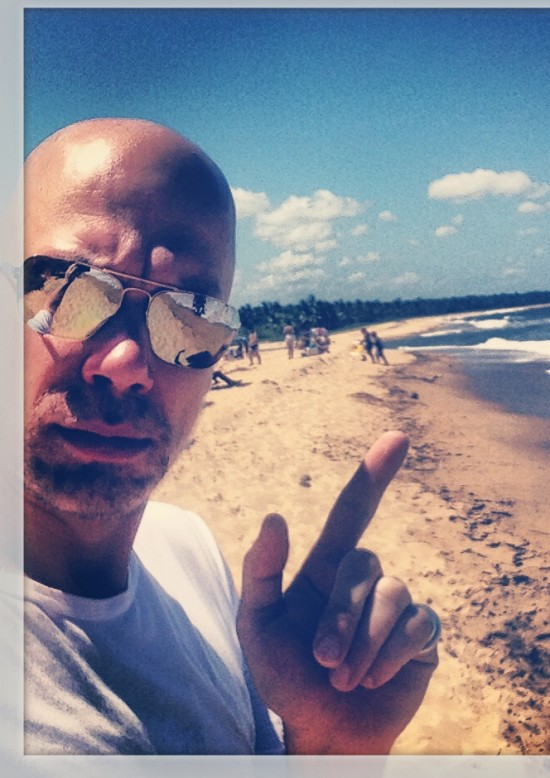 On the scene - Ralph Anderl celebrates the German victory at Santo André Beach in Brazil