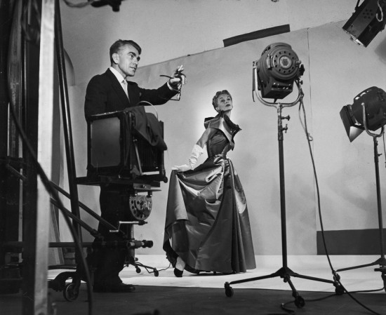 Horst directing fashion shoot with Lisa Fonssagrives 1949