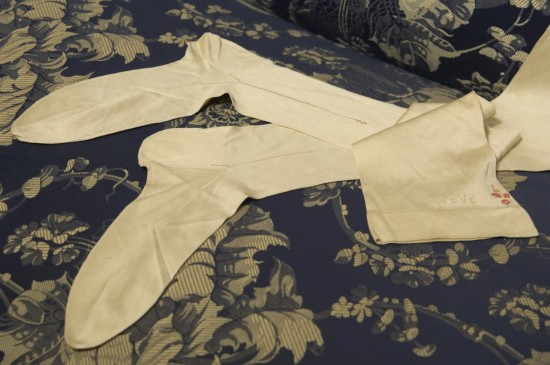 Monogrammed Silk Stockings worn by Elisabeth Empress of Austria
