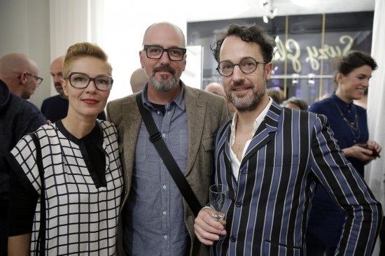 Susanne Klemm, Ramiro Paulino and Etienne Frederiks at Suzy Glam Amsterdam boutique opening