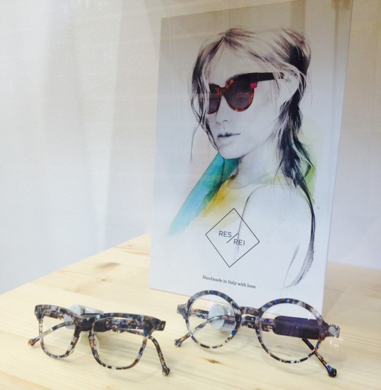 RES/REI frames displayed at Les Lunettes