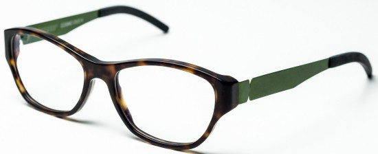 Eyewear Sophistication: Cosmo duo 4 in olive green and havana by Benner Eyewear
