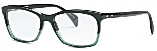 Harper in two-tone Green by Claire Goldsmith Eyewear
