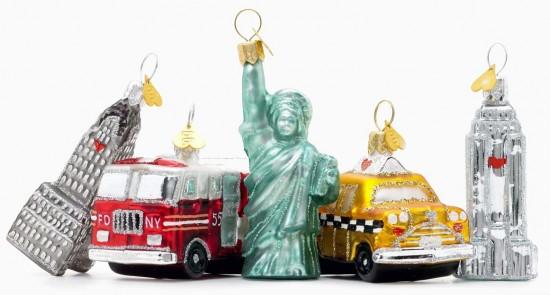 New York in miniature Noël ornaments