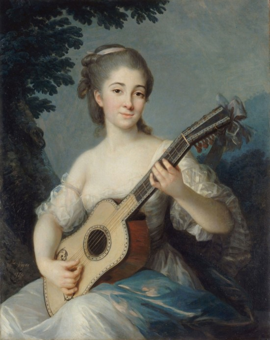 Marie-Louise Elisabeth Vigée-Lebrun (1755-1842) Portrait de Marie-Louise Adelaide-Jacquette de Robien,Vicomtesse de Mirabeau 1774
